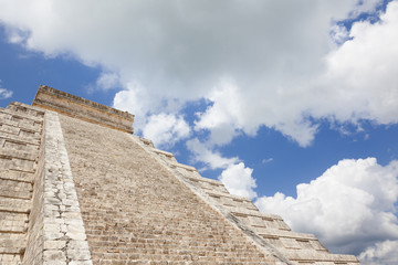 Ancient Maya pyramid, Chichen Itza Mexico