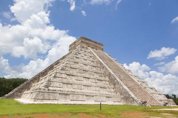Ancient Maya pyramid, Chichen Itza Mexico