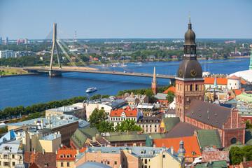 Aerial view of Riga, Latvia