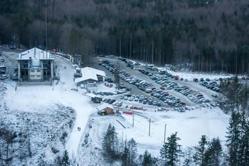 Winter ski station