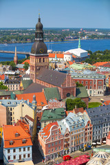 2014, July: Aerial view of Riga, Latvia