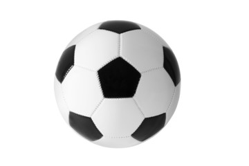 Soccer ball black and white