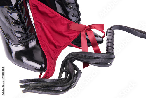 canvas print picture G-string and high heels