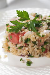 Tabbouleh with bulgur salad