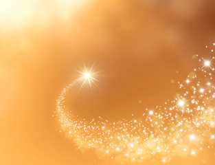 gold shooting star background