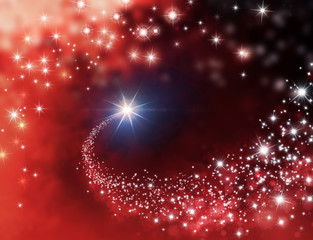 shooting star red background