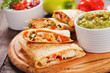 Quesadillas with chicken meat and vegetables - 71920954
