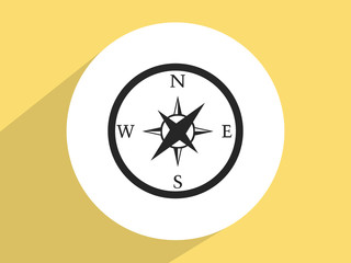 Compass ,Flat design style
