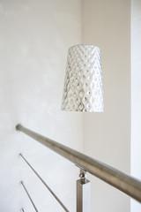 Silver lamp in modern loft