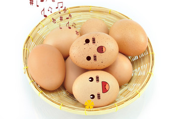 Eggs On Basket