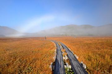 尾瀬の白い虹