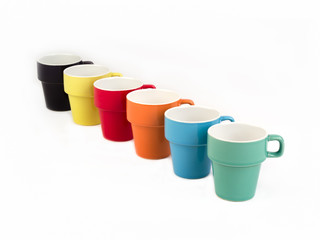 Six Colorful Stackable Cups.