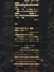 New York Office Building at Night