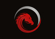 Dragon red logo vector - 71922749