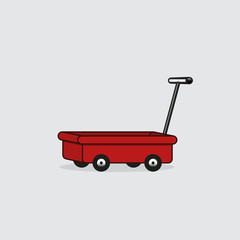 Hand trolley vector icon