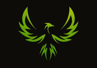 красивая птица феникс вектор