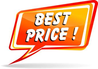best price orange speech icon