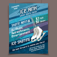 Ice rink advertising poster