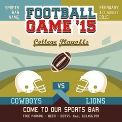 Football game college playoffs