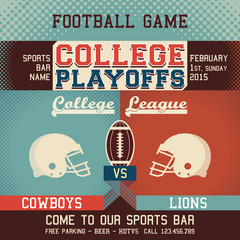 College playoffs football game
