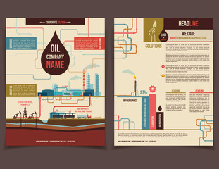 Oil company corporate flyer