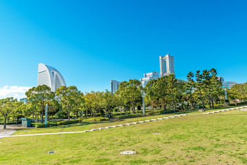 Landscape park buildings of landmark in clear weather