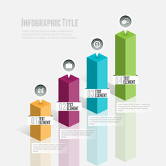3D Graphic Bar Infographic