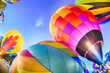 Bright Hot Air Balloons Glowing at Night - 71923551