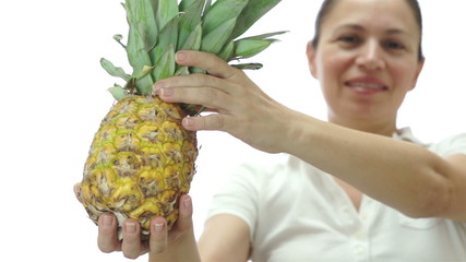 Female Offering Tropical Pineapple