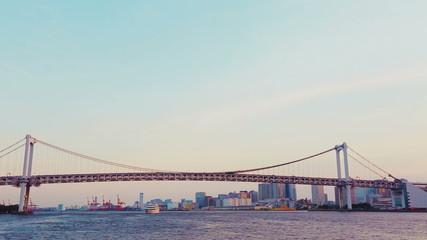 Tokyo's Rainbow Bridge taken the Sumida River