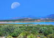 Roosevelt Lake and Moon