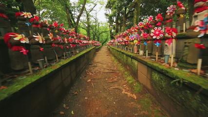 Hundreds of Japanese Buddhist statues at Zojoji temple