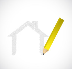 drawing a house illustration design