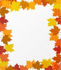 leaves border illustration design