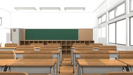 教室の3D-CGアニメーション
