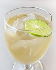 Glass of Ginger Ale with Ice