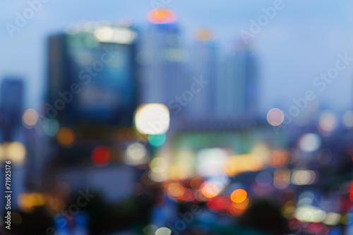 Leinwandbild Motiv Bangkok cityscape at twilight time