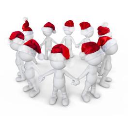 Group of people celebrating on christmas