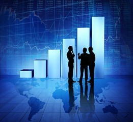 Business People on Booming World Economic