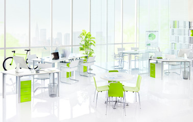 Contemporary Clean Green Office Concepts