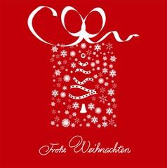"""""""Frohe Weinachten"""" weihnachtliches Paket"""