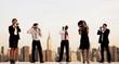 Obrazy na płótnie, fototapety, zdjęcia, fotoobrazy drukowane : Group Of New York Office Workers Communicating