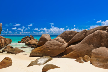 Tropical beach at Seychelles