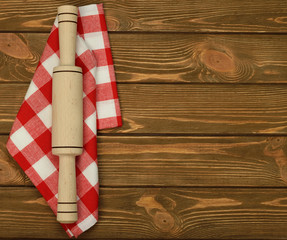 napkin and rolling pin