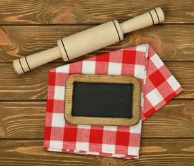 Writing board napkin and rolling pin