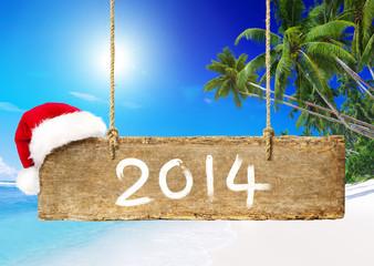 Christmas Board on the Beach