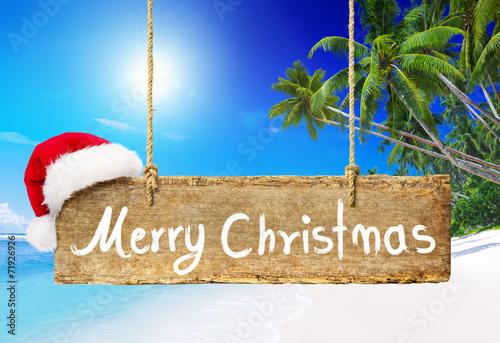 Christmas Board on the Beach - 71926926