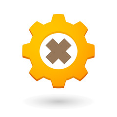 Gear icon with an irritating substance sign