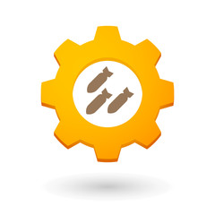 Gear icon with bombs