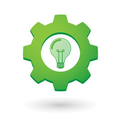 Gear icon with a light bulb
